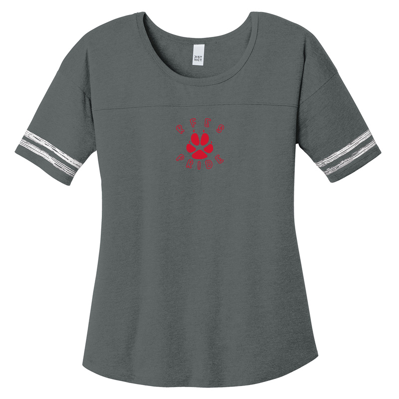 Ring Factory Elementary Women's Scorecard Tee - heathered Charcoal/ White