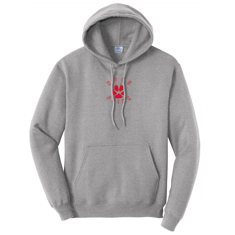 Ring Factory Elementary Core Fleece Pullover Hooded Sweatshirt - Athletic Heather