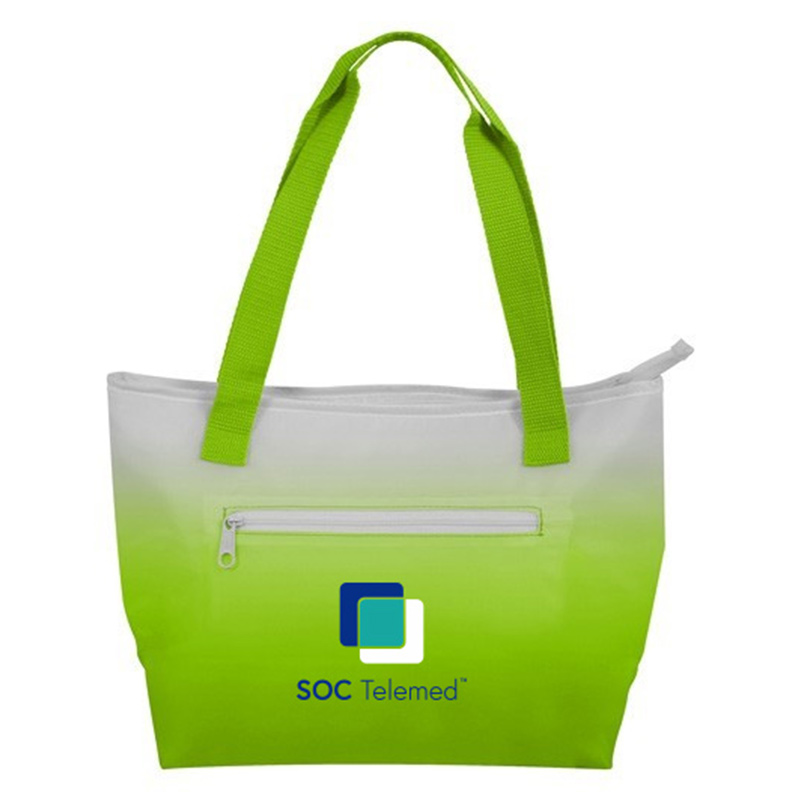 SOC Telemed Ombre Lunch Cooler - Lime Green