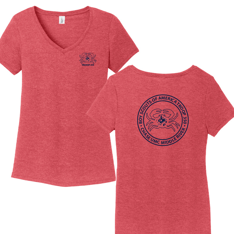 BSA 350 Women's Perfect Tri V-Neck Tee - Red