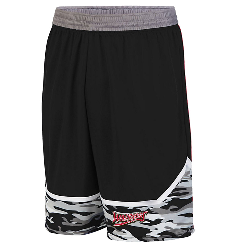 White Marsh Warriors Mod Camo Game Short-Black