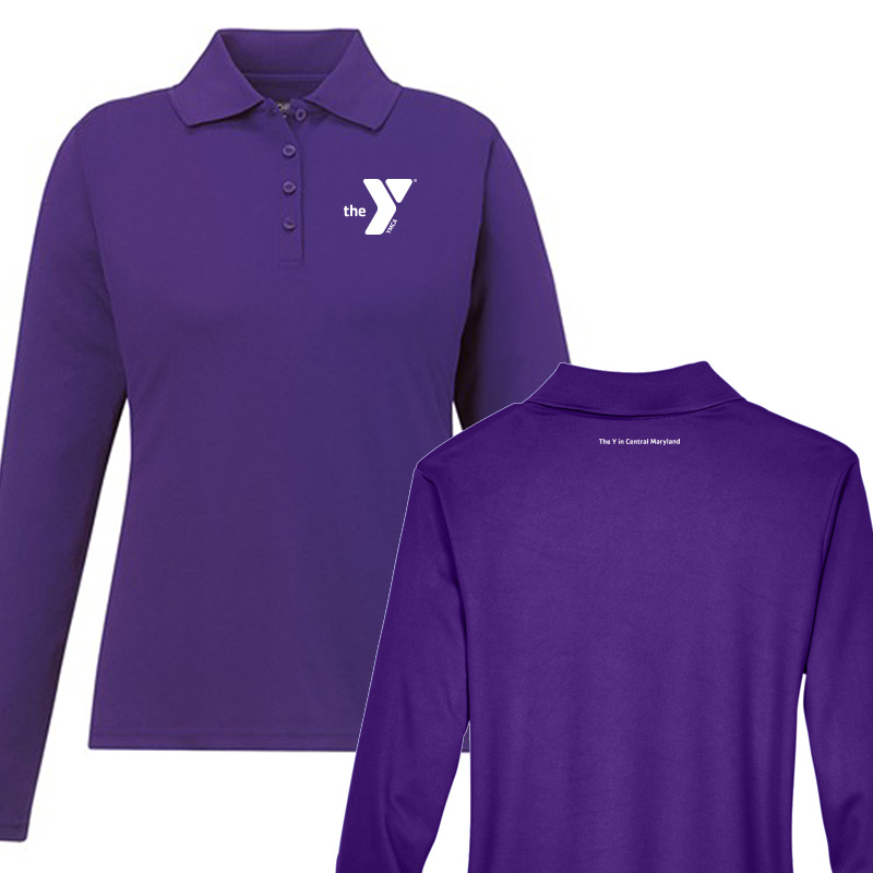 Y Associate Apparel Performance Long-Sleeve Piqué Polo