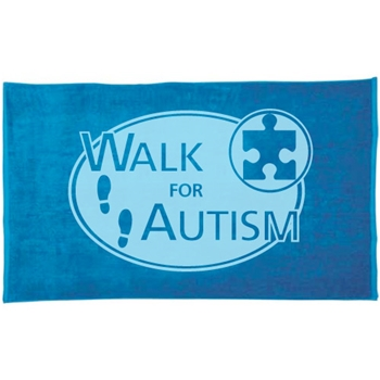 Walk for Autism Beach Towel