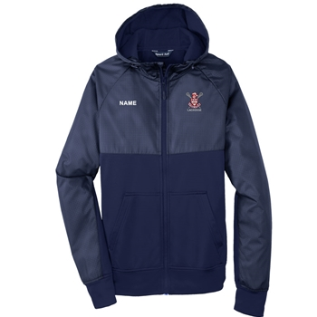BAHS Boy's Lax Sport-Tek® Embossed Hybrid Full-Zip Hooded Jacket