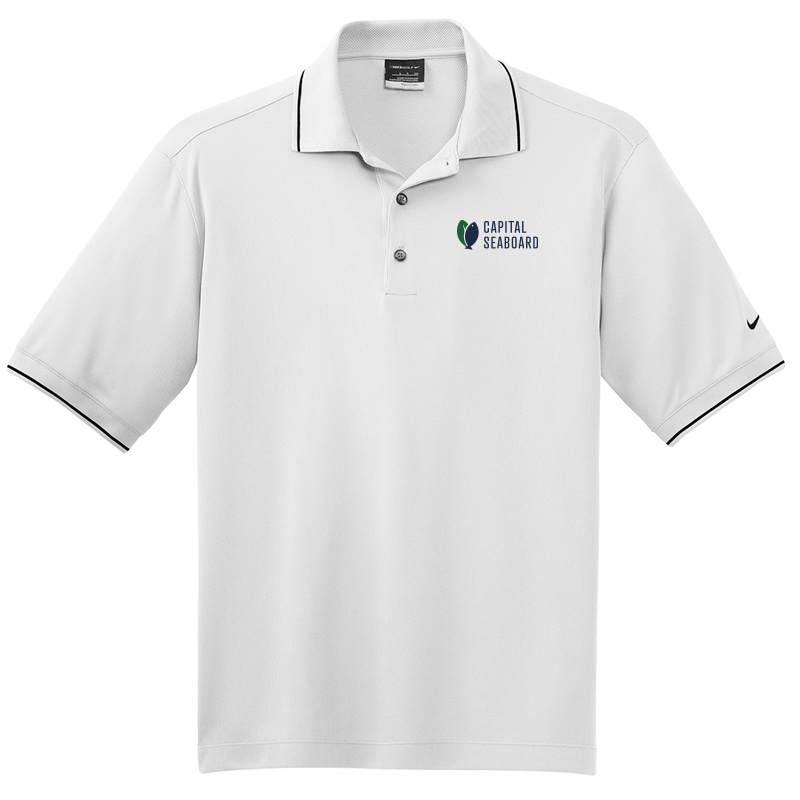 Capital Seaboard Nike Golf Dri-Fit Classic Polo-White