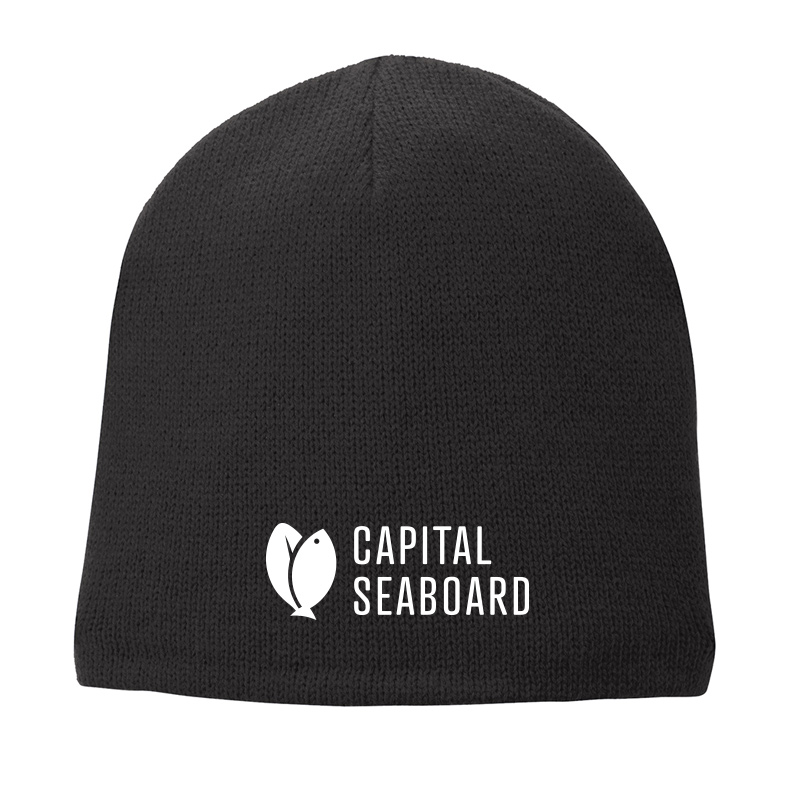 Capital Seaboard Fleece Lined Beanie Cap-Black