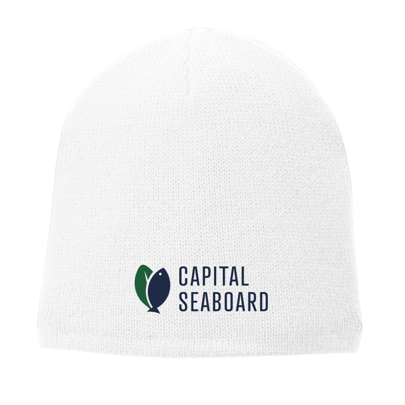 Capital Seaboard Fleece Lined Beanie Cap-White