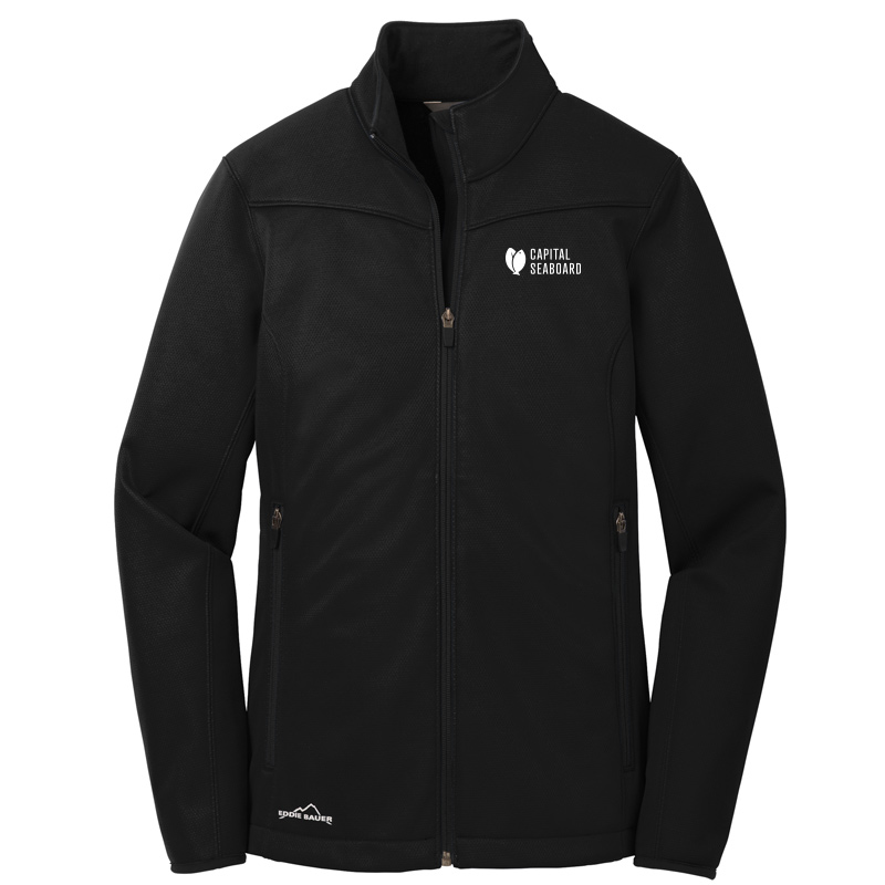 Capital Seaboard Eddie Bauer Weather Resist Soft Shell Womens-Black