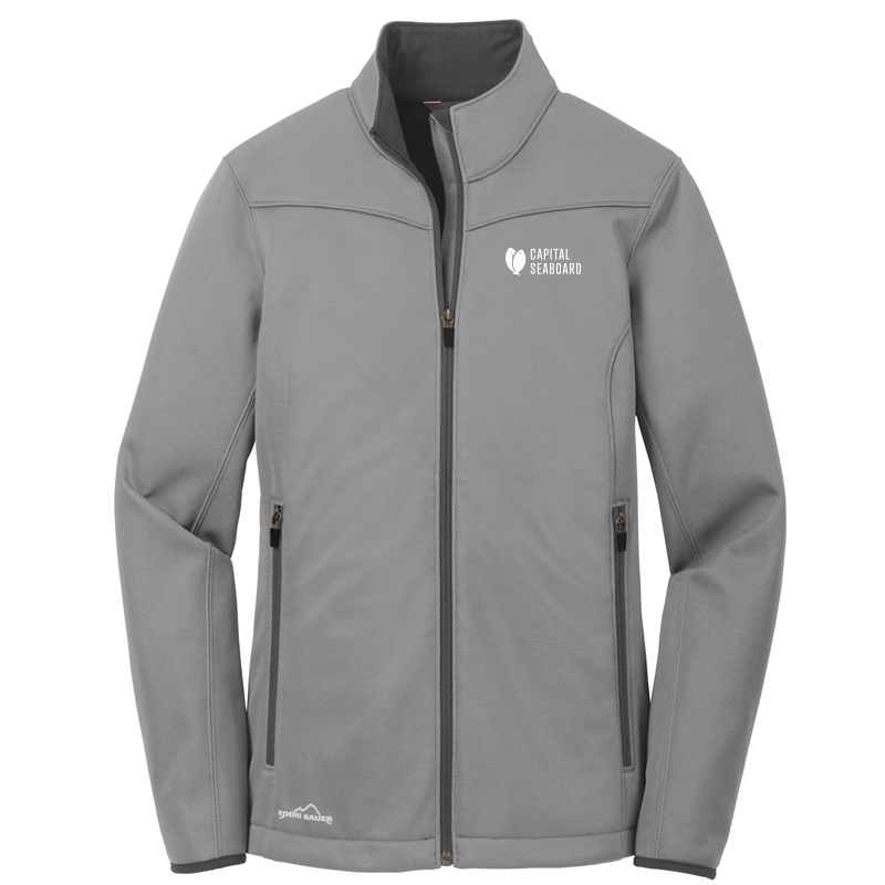 Capital Seaboard Eddie Bauer Weather Resist Soft Shell Womens-Chrome