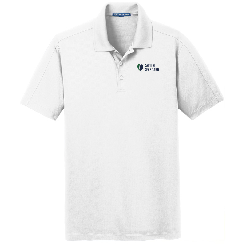 Capital Seaboard Diamond Jacquard Polo - Mens-White
