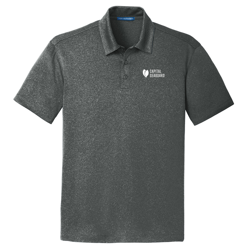 Capital Seaboard Trace Heather Polo - Men's-Charcoal