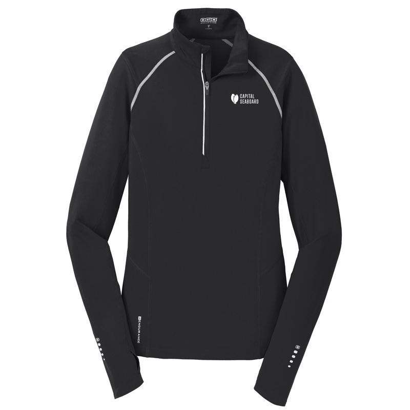 Capital Seaboard Nexus 1/4 Zip Womens-BlackTop