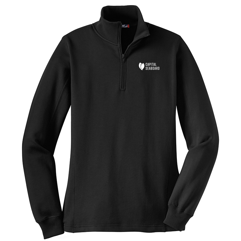 Capital Seaboard Sport Tek 1/4 Zip Sweatshirts - Womens-Black