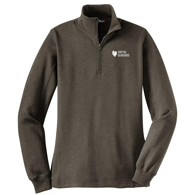 Capital Seaboard Sport Tek 1/4 Zip Sweatshirts - Womens-Graphite
