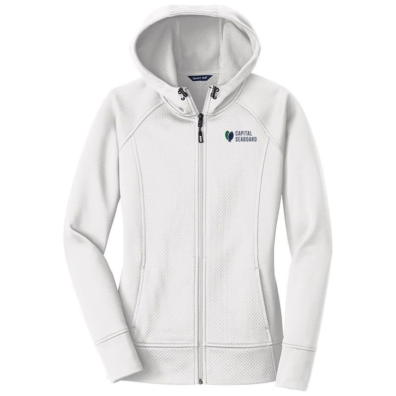 Capital Seaboard Sport Tek Full Zip Hooded Jackets Womens-White