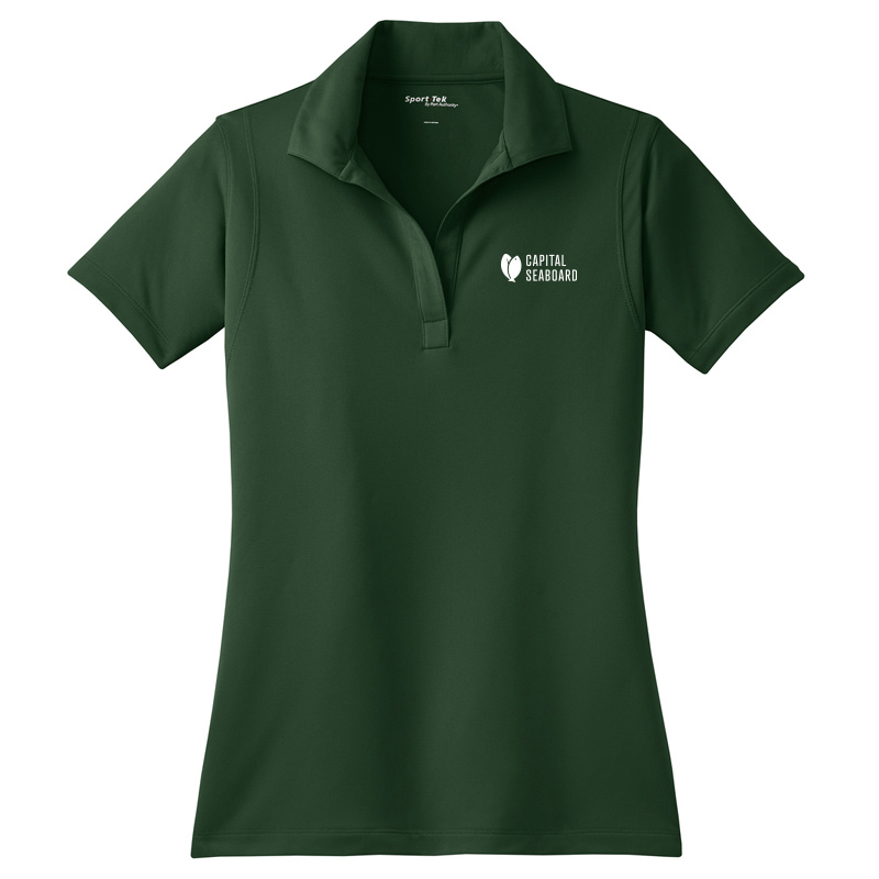 Capital Seaboard Sport-Tek Micropique Polos - Womens-ForestGreen