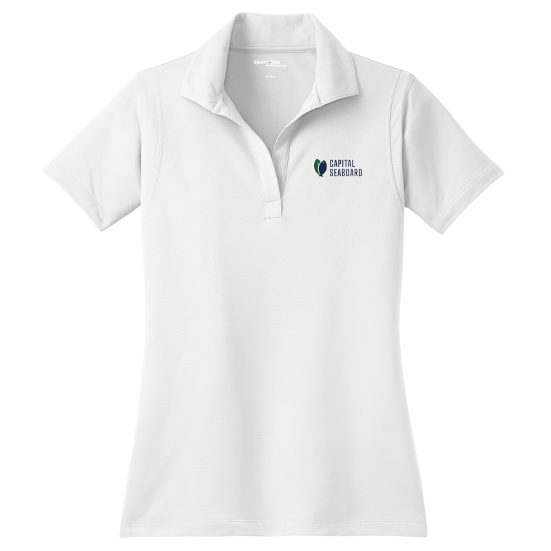 Capital Seaboard Sport-Tek Micropique Polos - Womens-White