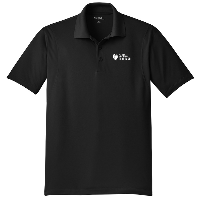 Capital Seaboard Sport-Tek Micropique Polos - Mens-Black