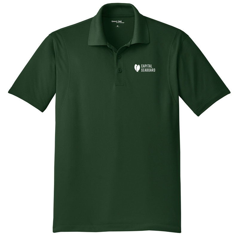 Capital Seaboard Sport-Tek Micropique Polos - Mens-ForestGreen