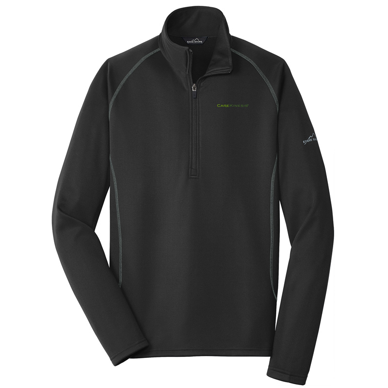 CareKinesis Eddie Bauer® Smooth Fleece Base Layer 1/2-Zip - Black