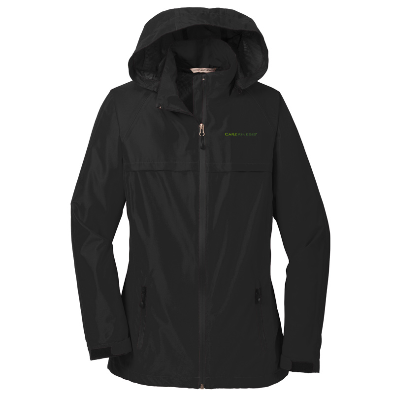 CareKinesis Port Authority® Ladies Torrent Waterproof Jacket - Black