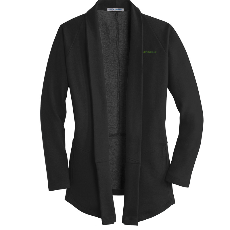 CareKinesis Port Authority® Ladies Interlock Cardigan - DeepBlack