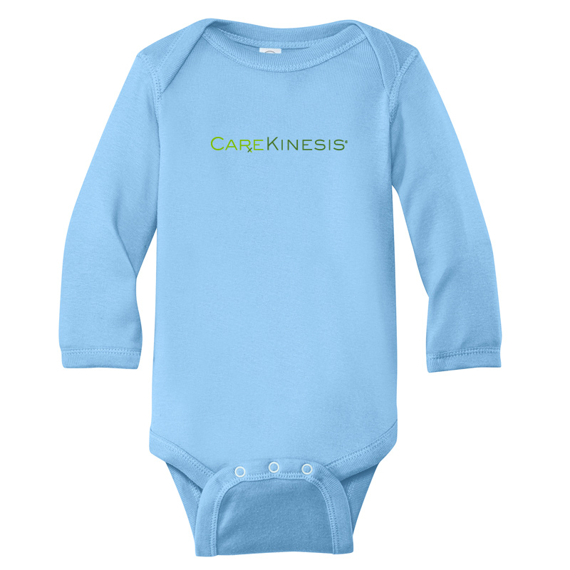 CareKinesis Rabbit Skins™ Infant Long Sleeve Baby Rib Bodysuit - LightBlue