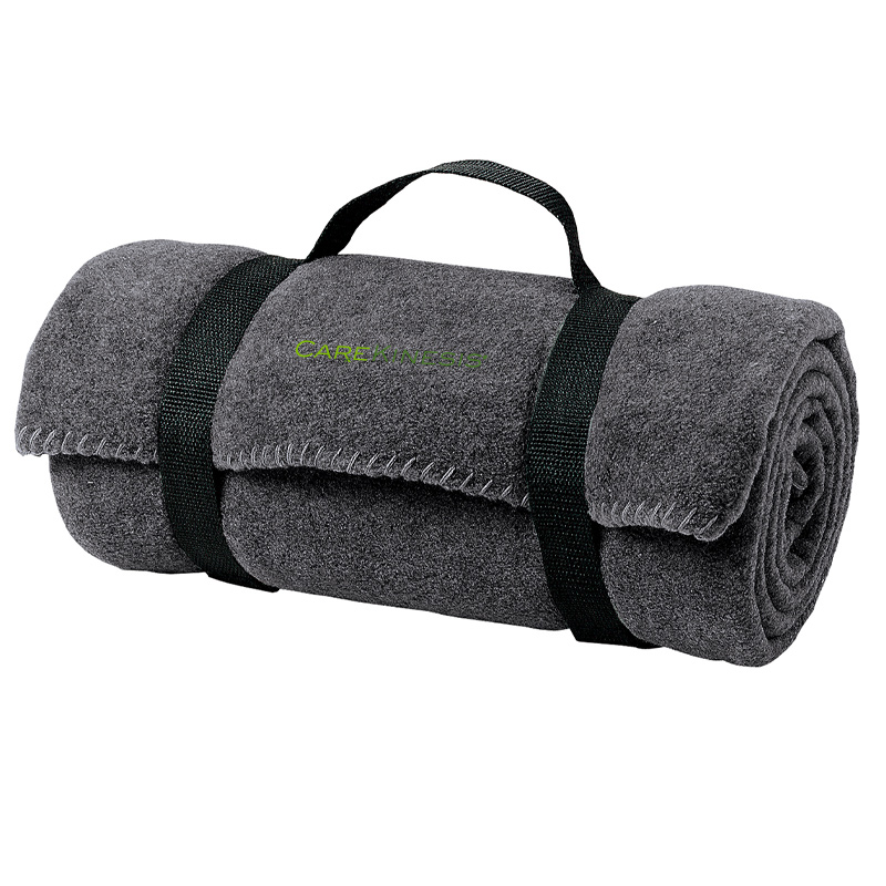 CareKinesis Port Authority® - Fleece Blanket with Strap - MidnightHeather