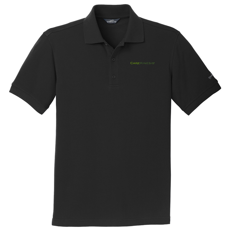 CareKinesis Eddie Bauer® Cotton Pique Polo - Black