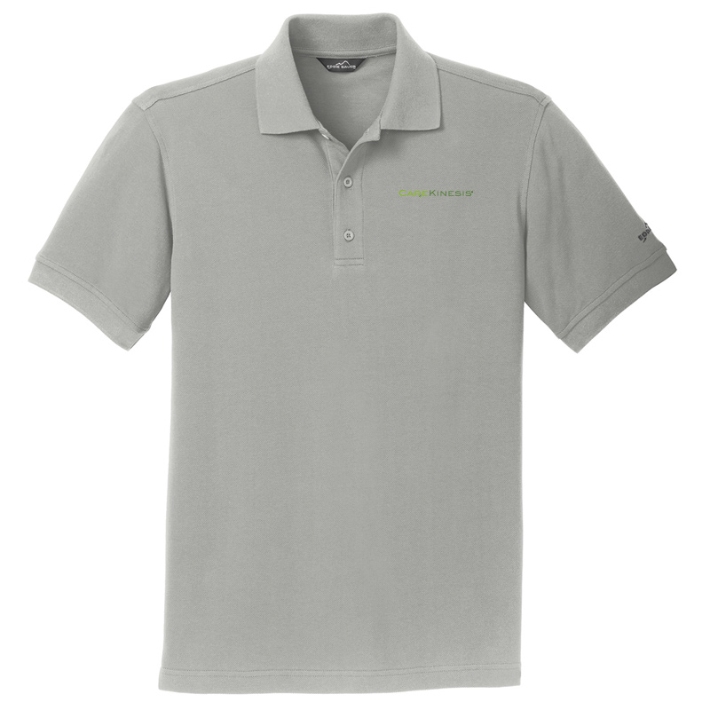 CareKinesis Eddie Bauer® Cotton Pique Polo - Chrome