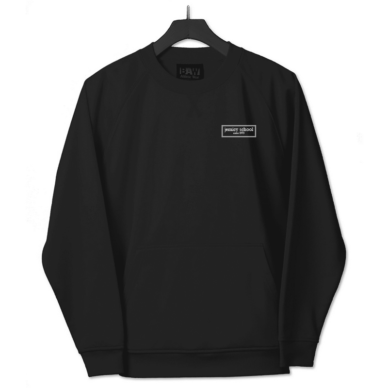 Jemicy EST. Baw Youth Crewneck Sweatshirt  - Black