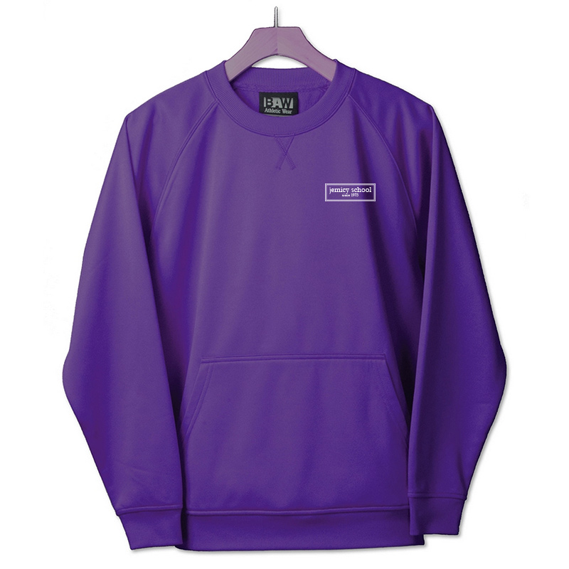 Jemicy EST. Baw Youth Crewneck Sweatshirt  - Purple