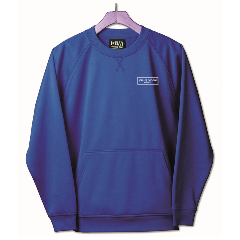 Jemicy EST. Baw Adult Crewneck Sweatshirt  - Royal