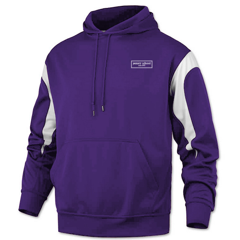 Jemicy EST. Baw Youth Color PanelPullover Sweatshirt - Purple
