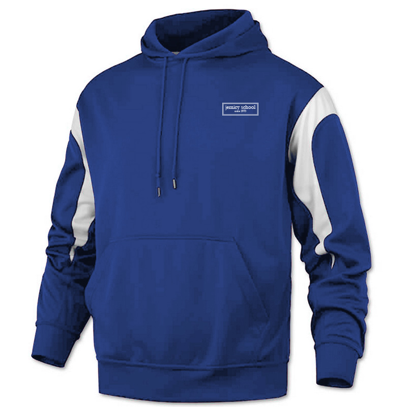 Jemicy EST. Baw Adult Color PanelPullover Sweatshirt - Royal