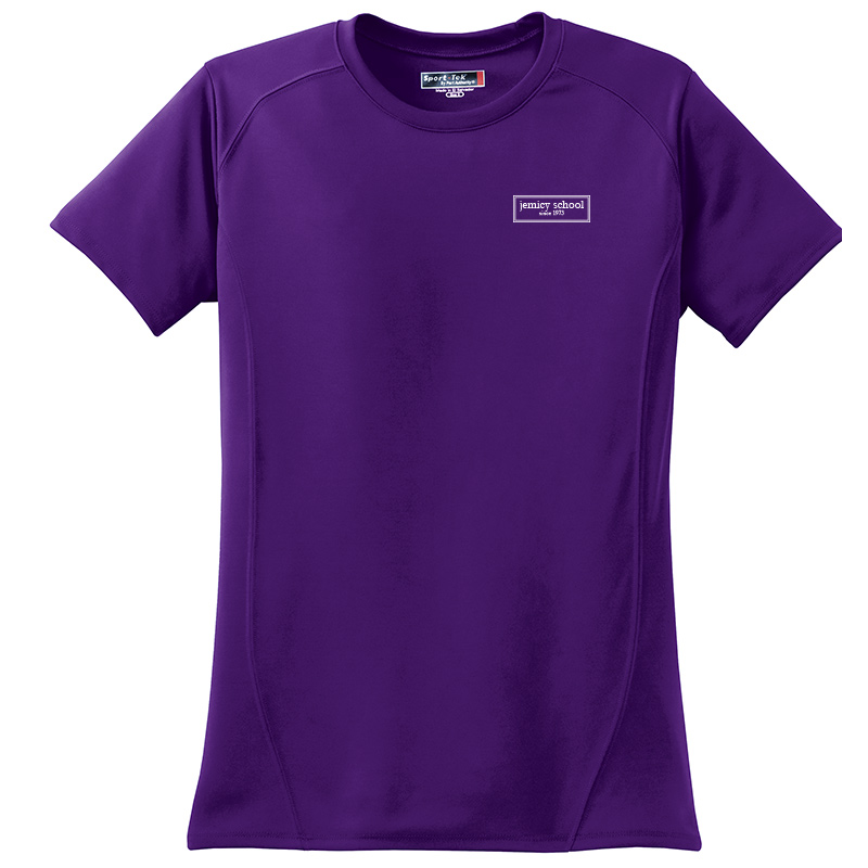 Jemicy EST. Sport-Tek® Dry Zone® Ladies Short Sleeve Raglan T-Shirt - Purple