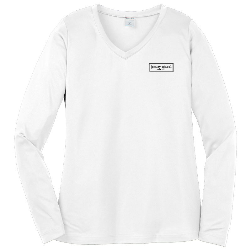 Jemicy EST. Sport-Tek® Dry Zone® Ladies Long Sleeve Raglan T-Shirt - Silver