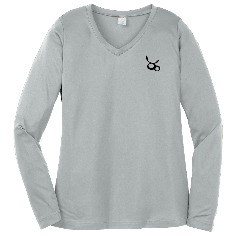 Jemicy LC Sport-Tek® Dry Zone® Ladies Long Sleeve Raglan T-Shirt - Silver