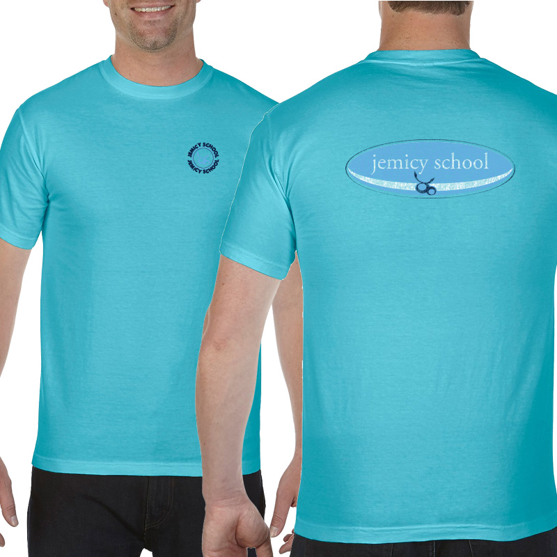 Jemicy Surf Adult  Ringspun Short Sleeve Shirt  - lagoon
