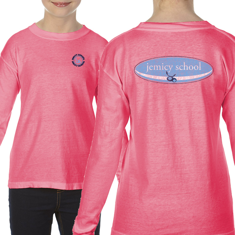Jemicy Surf Youth  Long Sleeve T-Shirt - Peony
