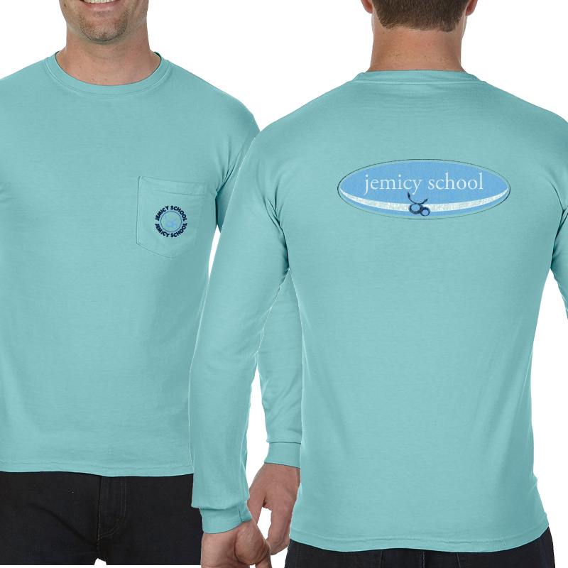 Jemicy Surf Adult  Long Sleeve Pocket T-Shirt - ChalkyMint