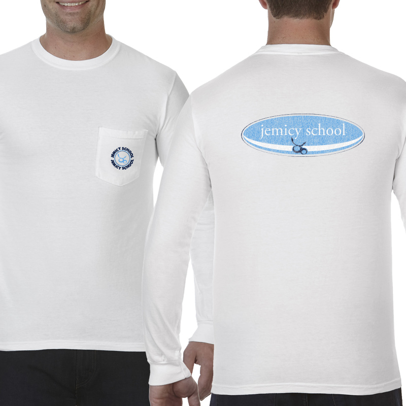 Jemicy Surf Adult  Long Sleeve Pocket T-Shirt - White