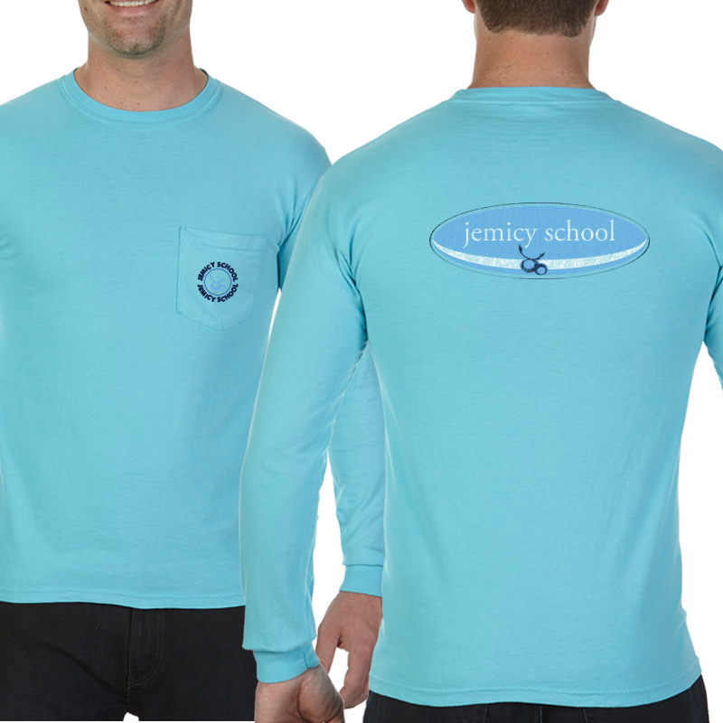 Jemicy Surf Adult  Long Sleeve Pocket T-Shirt - lagoon