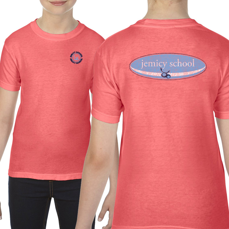 Jemicy Surf Youth  Ringspun Short Sleeve Shirt  - Neon Red Orange