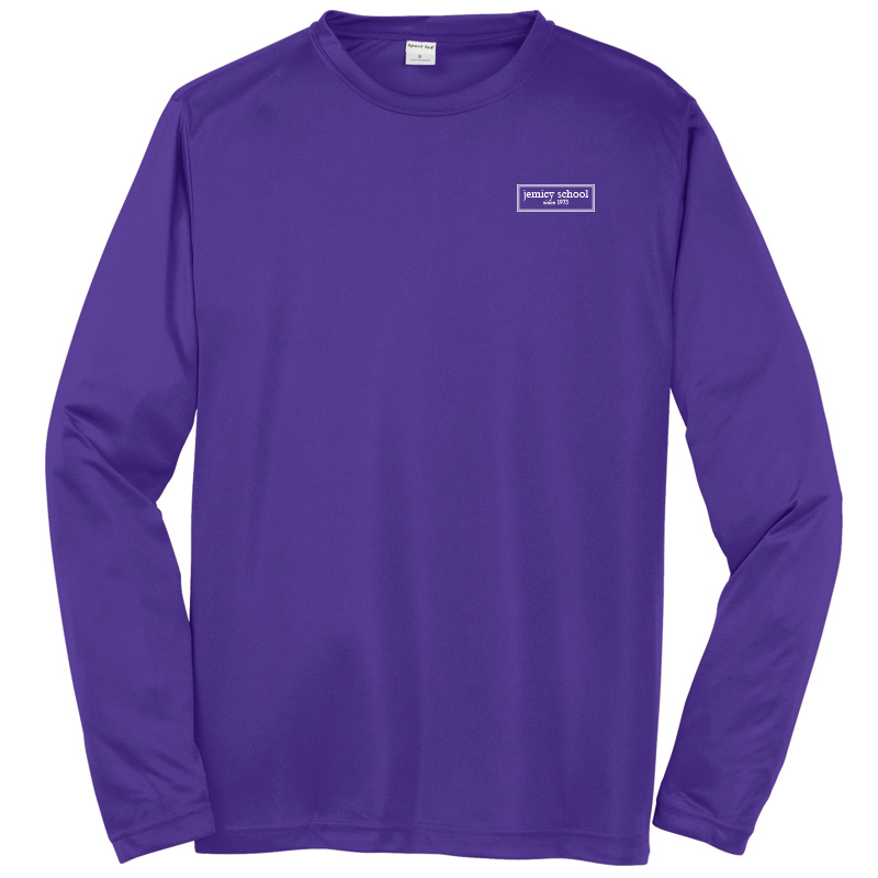 Jemicy EST. Sport-Tek® Dry Zone® Long Sleeve Raglan T-Shirt - Purple