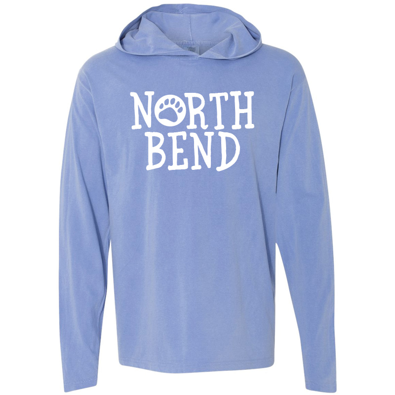 North Bend Long-Sleeve Hooded T-Shirt - Flo Blue