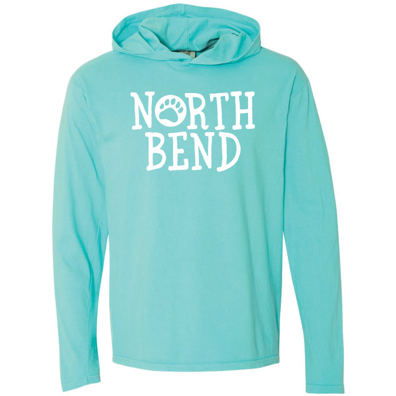 North Bend Long-Sleeve Hooded T-Shirt - Lagoon