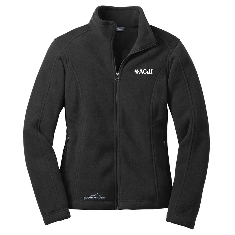 Acell Eddie Bauer Ladies Ladies Full Zip Fleece Jacket - Black