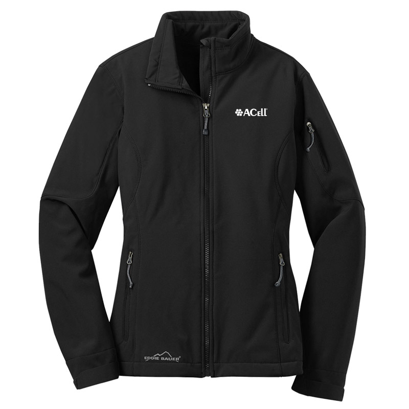 Acell Eddie Bauer Ladies Soft Shell Jackets - Black