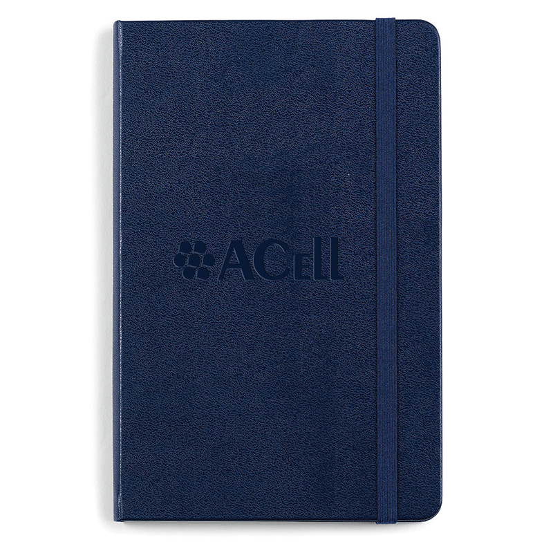 Acell Navy Blue Moleskine Hard Cover Ruled Medium Notebook